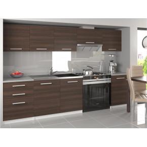 Keittiökokonaisuus / keittiökalustesarja tummanruskea